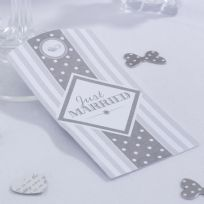Chic Boutique Large Luggage Tags - White & Silver (10)